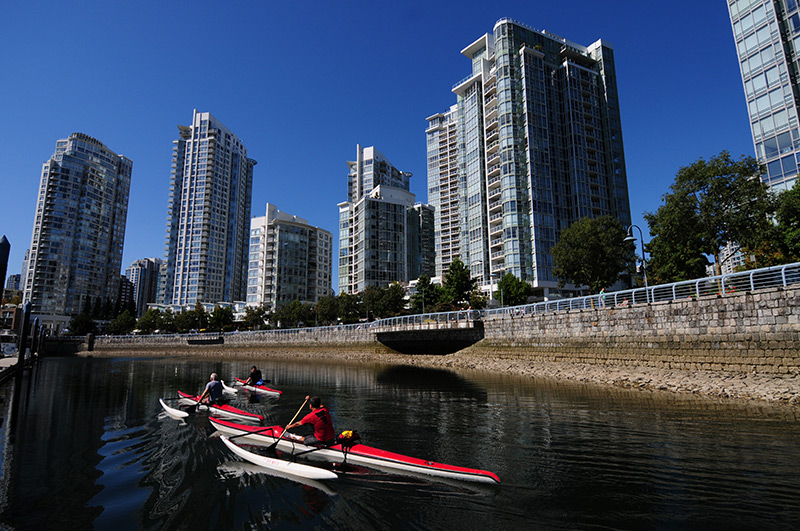 Kayaking in Yaletown