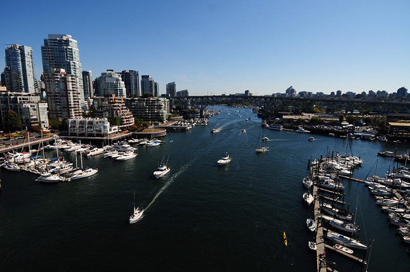 Looking towards Granville Island and Yaletown